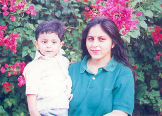 ajay with mother.jpg (22129 bytes)