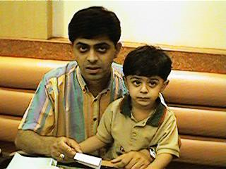 Ajay with Father in Mc Donald