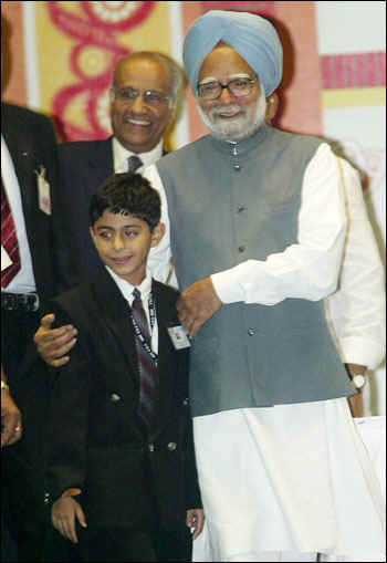 Ajay with Dr. Manmohan Singh